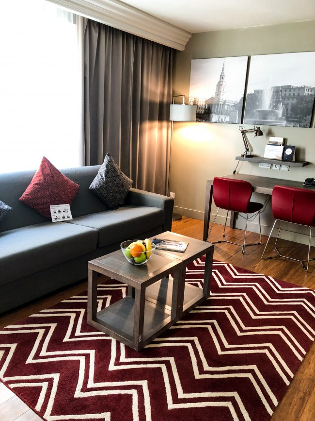 Citadines Trafalgar Suqare livingroom