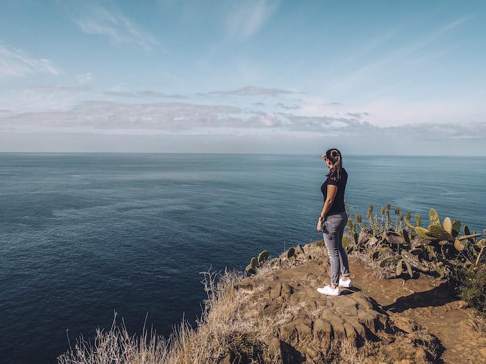 Madeira Klippen Meer Aussichtspunkt